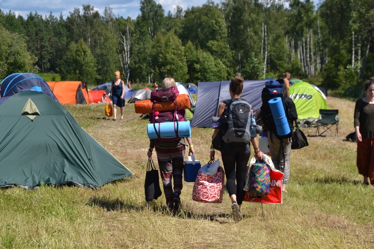 camping at natural high healing festival in finland