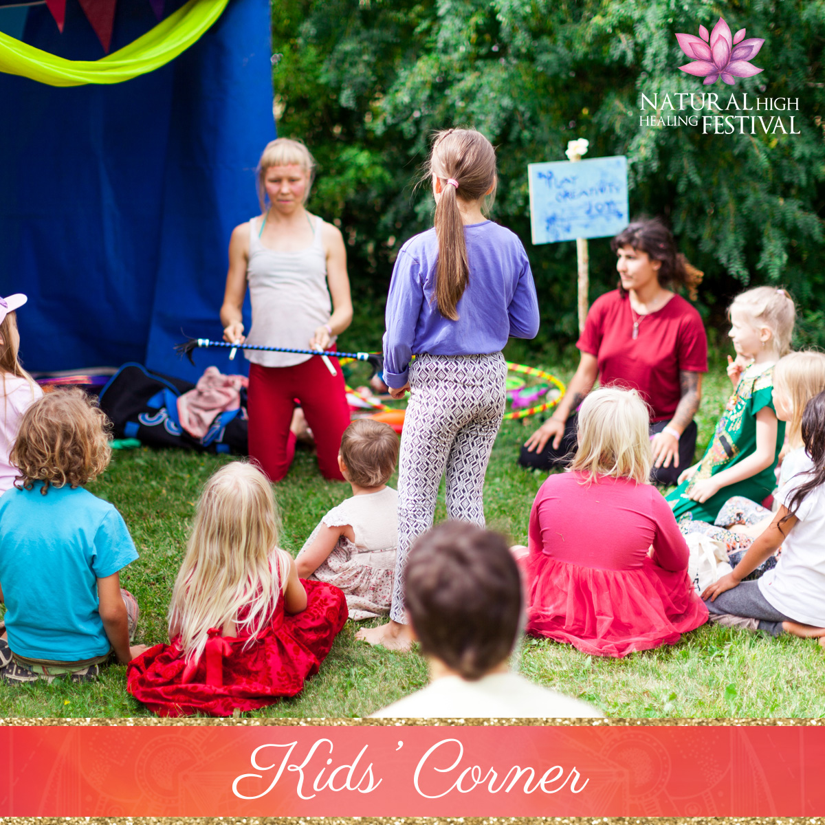 kids corner at natural high healing  festival