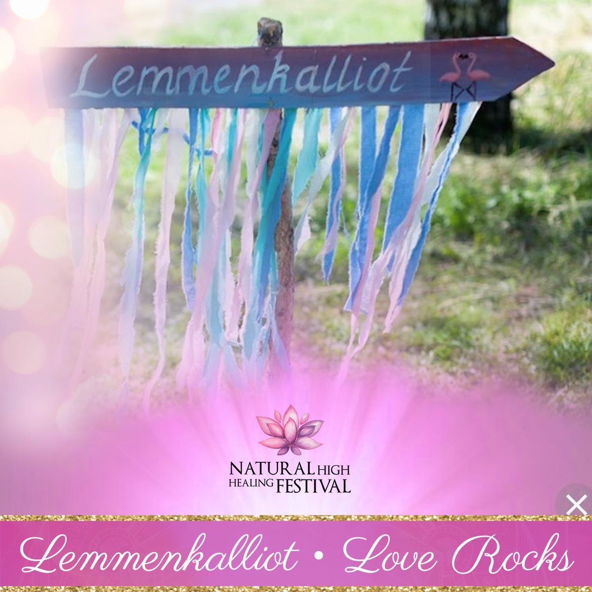 love rocks at natural high healing  festival