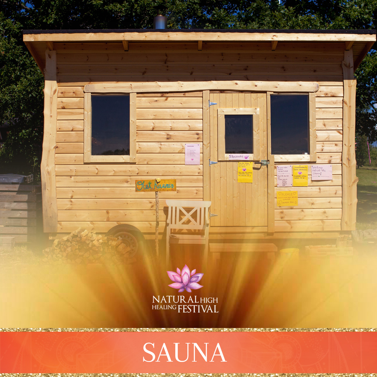 festival sauna at natural high healing festival finland