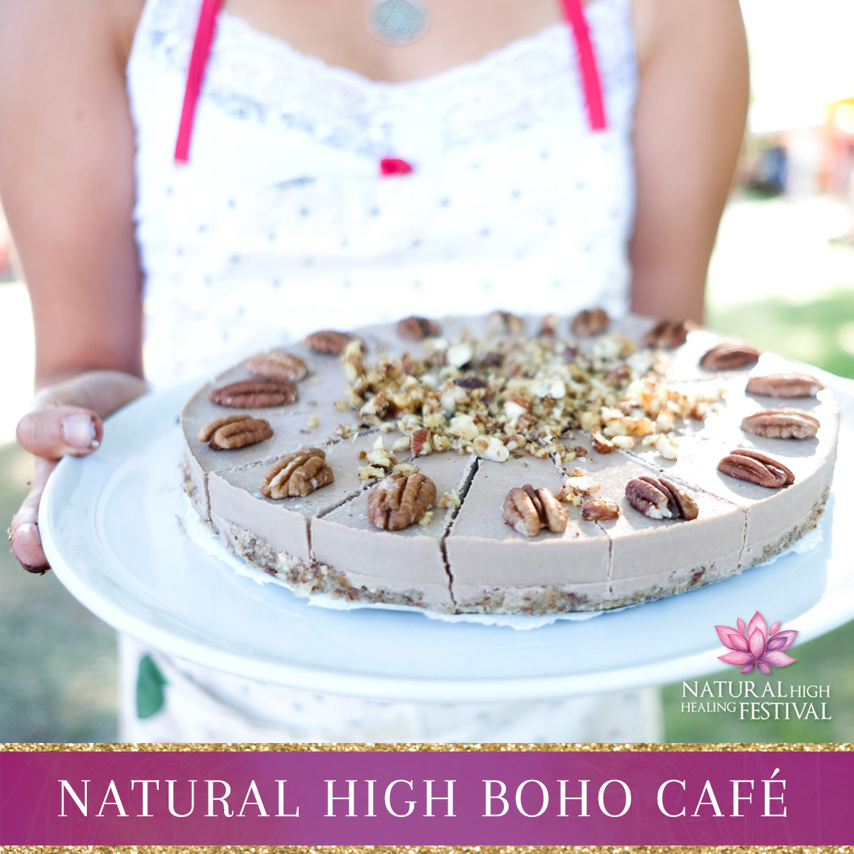 Welcome Cafe at natural high healing  festival