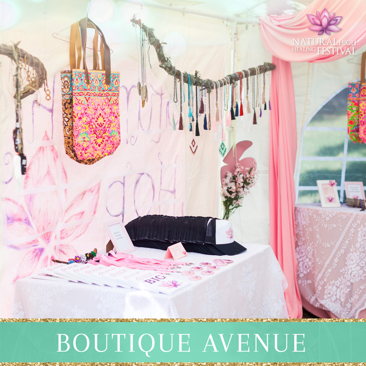 Boutique Avenue at Natural High Healing Festival in Finland