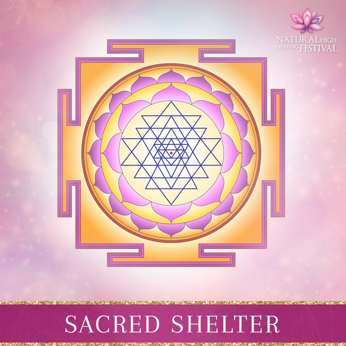 Sacred Shelter at natural high festival
